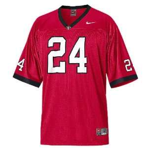 Georgia Bulldogs Youth #24 Home College Replica Football Jersey By