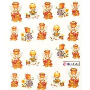 Miao Yun Hot selling lovely angel baby water transfer decals nail