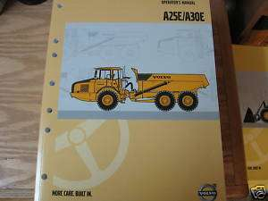Volvo A25E A30E Articulated Truck Operators Manual