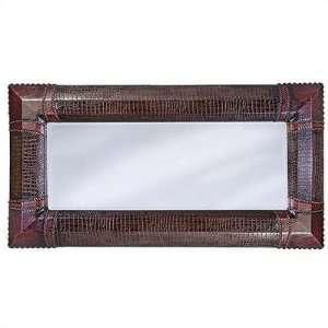 Howard Elliott 1399 Russell Wall Mirror in Red & Brown Faux Crocodile