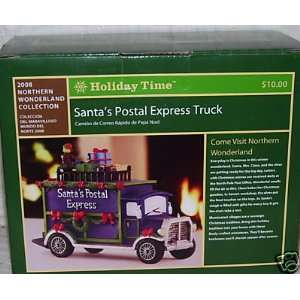 com Holiday Time Santas Postal Express Truck/Village Piece/Christmas