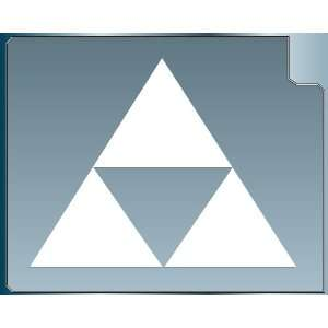 TRIFORCE LOGO #2 from the Legend of Zelda WHITE vinyl decal sticker 4