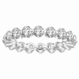 18k White Gold Shared Prong Diamond Eternity Ring (3.00