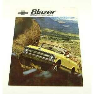 1969 69 Chevrolet Chevy BLAZER Truck BROCHURE Everything