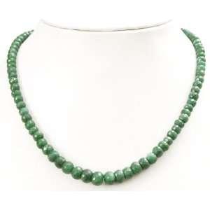 Good Looking Natural Brazilian Green Emerald Beaded Single