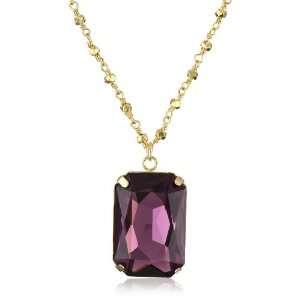 Lola James Jewelry Crown Jewels Swarovski Crystal Amethyst Pendant