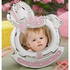 Baby Shower Favors : Pink Rocking Horse Frames   Girl (1