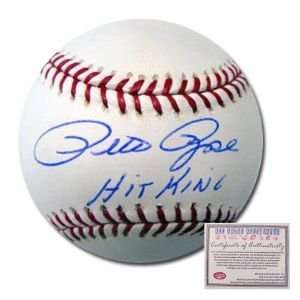 Pete Rose Cincinnati Reds Hand Signed Rawlings MLB Baseball with Hit