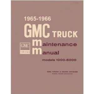 1965 1966 GMC Full Line Shop Service Repair Manual Book