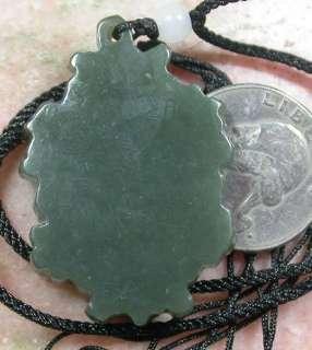 Green Chinese Natural Hetian Nephrite Jade pendant Guanyin Kwan Yin