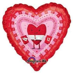 Valentines Balloons   18 Love You Guy Hugs & Kiss Toys & Games