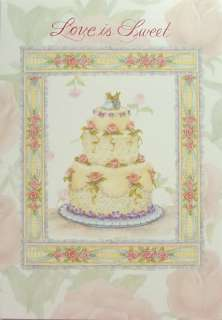 Susan Wheeler Holly Pond Hill Rabbit Wedding Cake Card