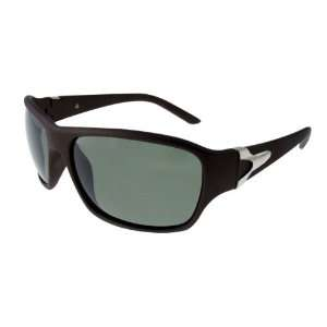 Allegra K Dark Brown Frame Unisex Sports Polarized