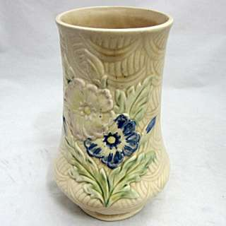 ARTHUR WOODS Ceramic Vase Hand Painted WildWood Pattern Vintage 1930