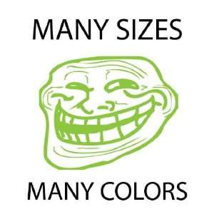 Lime Green   Troll Face Meme 4chan Custom Vinyl Decal