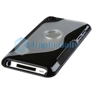 BLACK Soft Silicone Gel Case Skin Cover For Apple iPod TOUCH 4 8GB