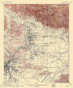 USGS TOPO MAP PASADENA QUAD CALIFORNIA (CA) 1900 MOTP