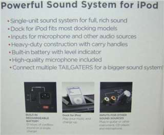 Loud Portable Music Speaker System iPod Line Mic PA Amp