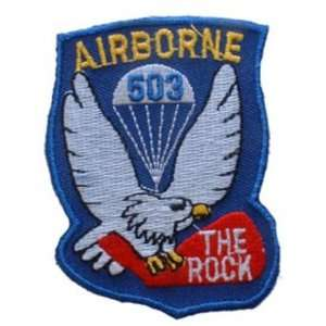 U.S. Army 503rd Airborne Patch Blue & White 3 Patio