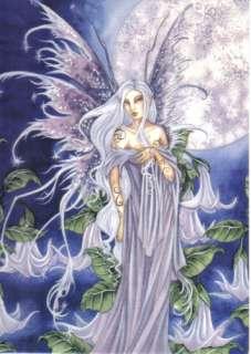 Amy Browns Night Blossom Fairy Art Postcard 2004 MINT