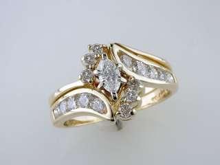 Zales / Kay 1.5ct G SI1 Diamond 14K Yellow Gold Engagement Ring Bridal