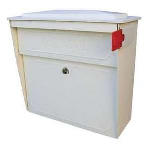 Townhouse Wall Mount Mail Boss Locking Mailbox White: Home