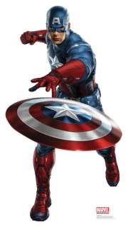 MOVIE CAPTAIN AMERICA LIFESIZE STANDEE STAND UP LICENSED 1183
