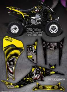 SUZUKI LTZ400 Z400 GRAPHICS DECALS THE EVIL JESTER