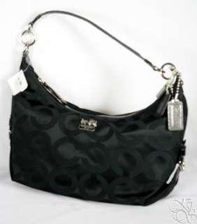 Coach Madison Op Art Sateen Hailey Black Satchel Bag Purse New 18801M