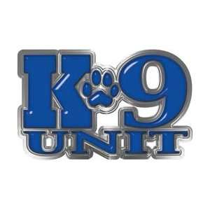 REFLECITVE K9 Unit with Dog Paw Law Enforcement Decal in Blue   7.5 h
