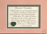 Grandmas GOD MADE Grandmothers verses poems plaques