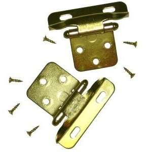 Concealed Cabinet Hinge, 1/4 Overlay, Partial Wrap, Polished Brass