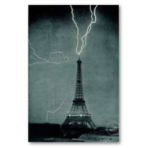 Posters Eiffel Tower   Electricity   35.7x23.8 inches Home & Kitchen