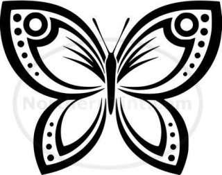 Tribal Butterfly Car Decal Window Sticker Wall Art #192