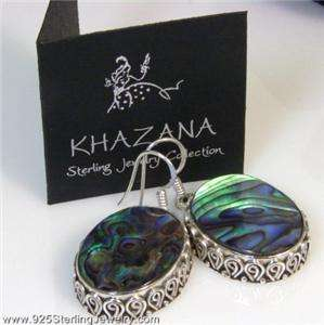 KHAZANA Collection 925 Sterling Silver ABALONE Earrings