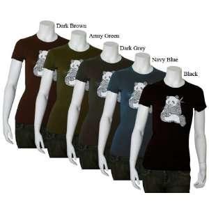 Womens Kelly Green Panda Shirt XS   Created using a list