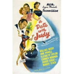 Date With Judy Poster 27x40 Wallace Beery Jane Powell Elizabeth