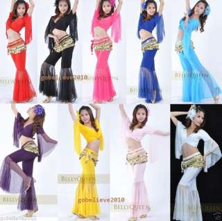 Brand New Sexy Yoga & Belly Dance Costume Set Top & Pants 9 Colors