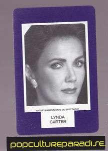 LYNDA CARTER Wonder Woman RARE BOARD GAME PHOTO CARD