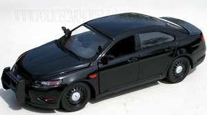 Motormax 1/24 Ford Police Interceptor   Black Slicktop