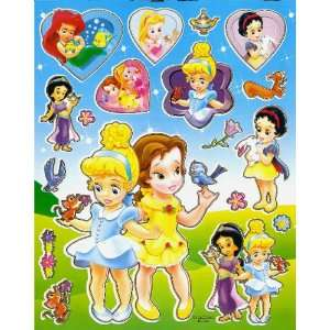Baby Princesses Cinderella & Belle Disney STICKER SHEET BL046 ~ Baby