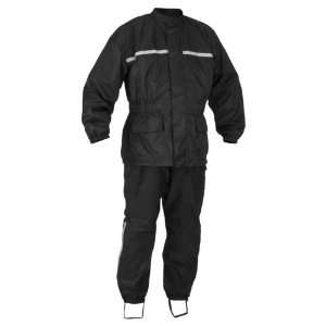 2012 RIVER ROAD HIGH N DRY 2 PIECE RAINSUIT (LARGE) (BLACK