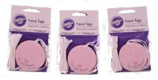 30 Wilton Shower Favor Tags Pink Our Little Princess 070896320247