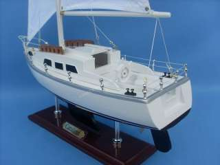 Catalina Yacht 24 Model Sailboat Wooden Replica Yacht