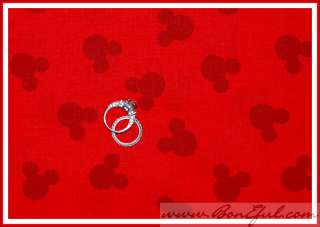 BOOAK Fabric Red Mickey Minnie Mouse Head Girl Boy Disney Vacation