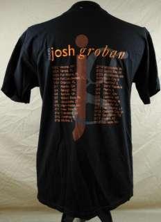 Josh Groban Live 2005 Tour Mens T shirt Large Black Tour Cities Tenor