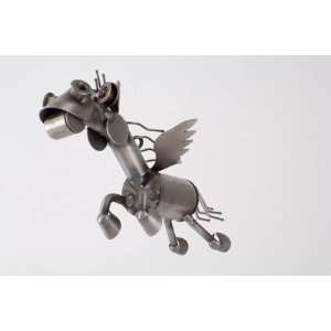 Recycled Scrap Metal Flying Pegasus Horse Everything Else