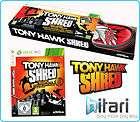 Tony Hawk Shred skating snowboard Game + Board Bundle Xbox 360 FREE UK