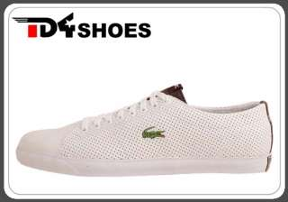 Lacoste Marcel AL SPM White Brown New 2011 Mens Casual Shoes