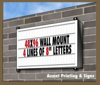 NEW 48x96 SINGLE FACE LIGHTED WALL MOUNT SIGN CABINET